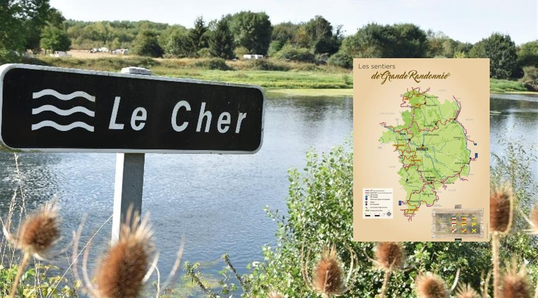 CHER : Les itinéraires de Grande Randonnée